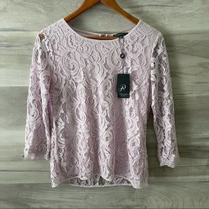 Adrianna Papell Laced Top